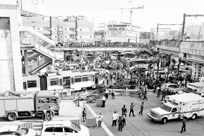 菲律宾城铁脱轨致多人受伤(图)