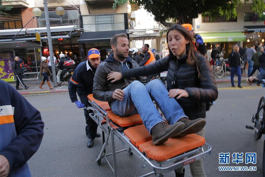 以色列特拉维夫发生枪击事件造成2死7伤(高清组图)