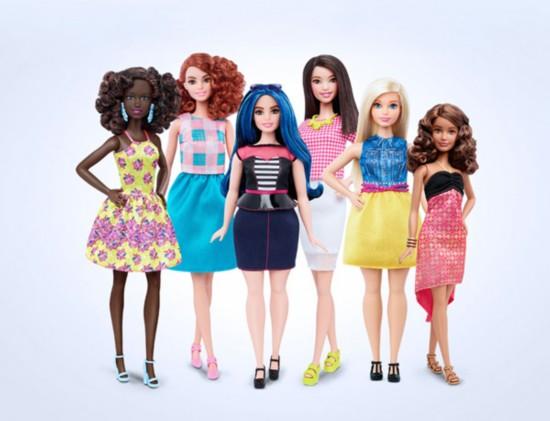 新芭比娃娃形象升级 真实身材接地气(组图)