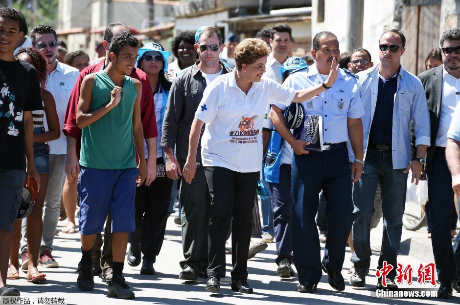 巴西消除寨卡病毒国家动员日 总统走街串巷宣传(组图)