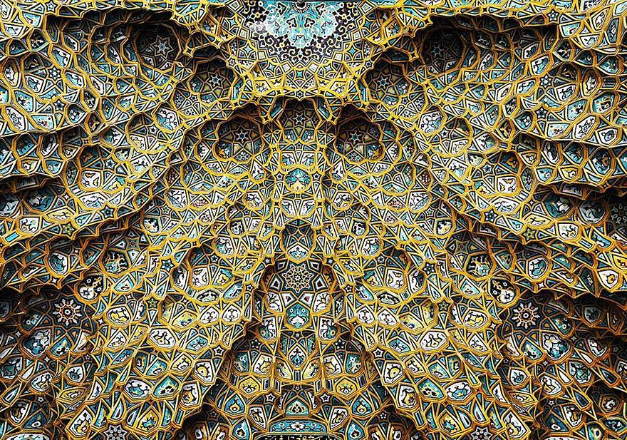 迷人的视觉之旅!探秘伊朗建筑美丽细节 繁复图案自带催眠(组图)