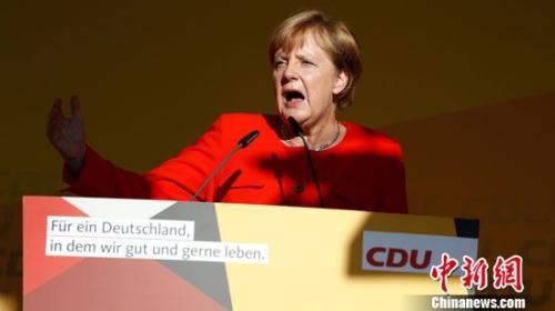 8月29日,默克尔出席竞选活动。