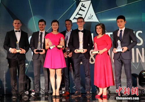 當地時間12月14日晚,國際乒聯2017球星頒獎盛典在哈薩克首都阿斯塔納舉行,八大獎項得主悉數揭曉。記者 文龍傑 攝