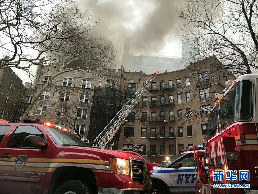 (國際)美國紐約曼哈頓一所公寓樓發生火災