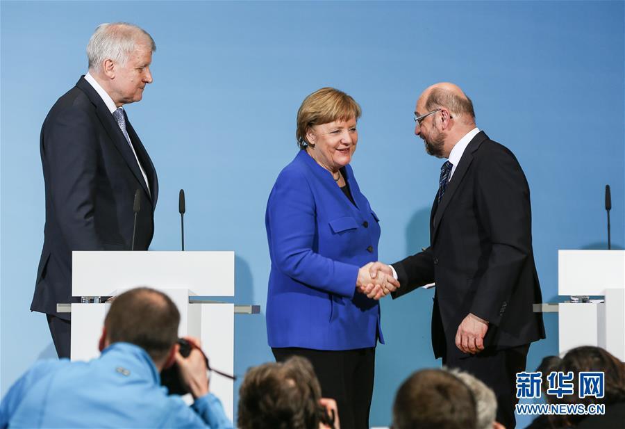 (國際)(1)德國組閣試探性對話各方達成原則一致