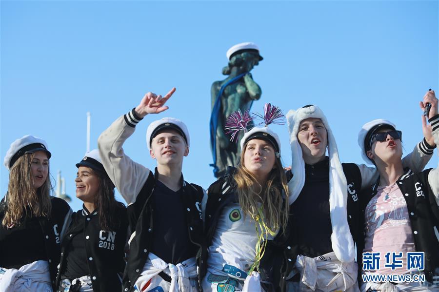 (國際)(1)芬蘭慶祝大學生戴帽節
